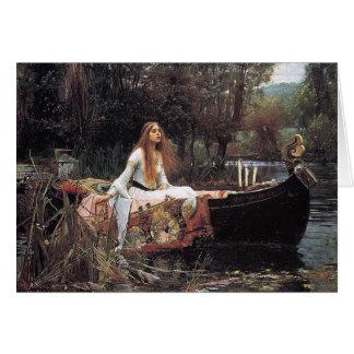 Cartão A senhora de Shalott, J.W. Waterhouse, 1888