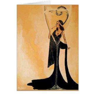 Cartão A senhora do vinho adiciona o texto