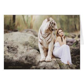 Cartão A senhora e o tigre  --