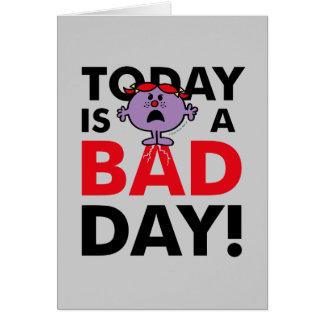 Cartão A senhorita pequena Impertinente | é hoje um dia