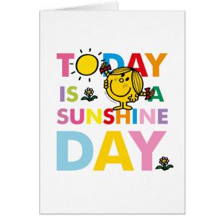 Cartão A senhorita pequena Luz do sol   é hoje um dia da