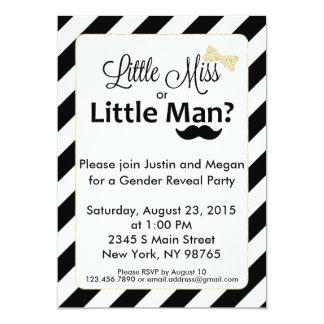 Cartão A senhorita pequena ou o género pequeno do homem