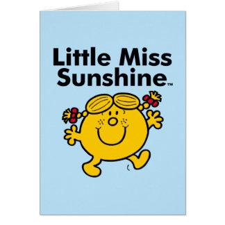 Cartão A senhorita pequena pequena Luz do sol da