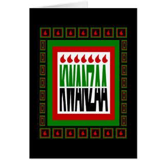 Cartão A separação de Kwanzaa com 7 chamas & decorou o