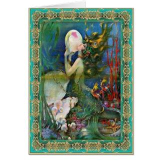 Cartão A sereia da pérola