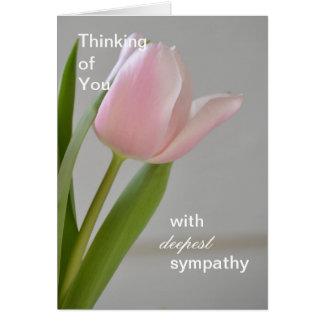 Cartão A simpatia a mais profunda da tulipa cor-de-rosa