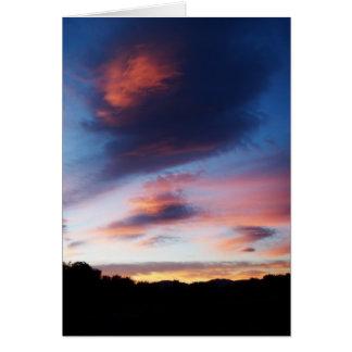 Cartão A simpatia a mais profunda do nascer do sol