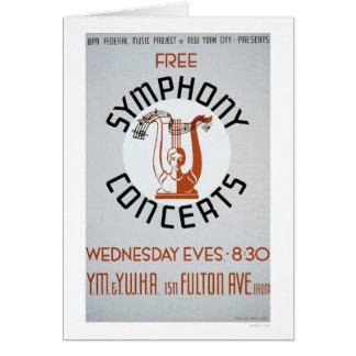 Cartão A sinfonia livre ajusta WPA 1941