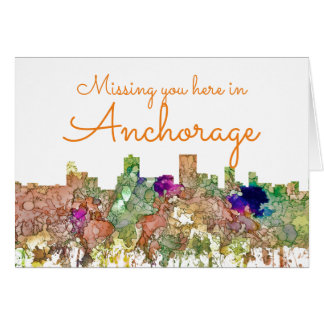 Cartão A skyline de Anchorage, Alaska SG-Desvaneceu-se