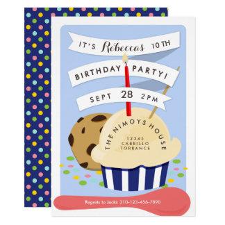 Cartão A sobremesa caçoa a festa de aniversário do