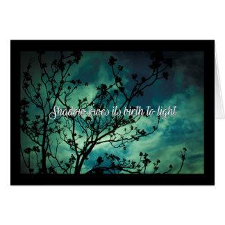 Cartão A sombra deve seu nascimento à luz
