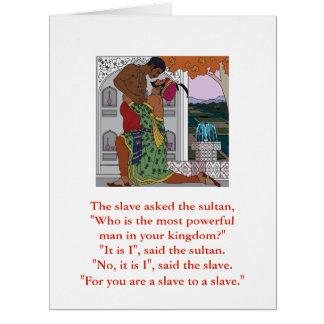 Cartão A sultão e o escravo