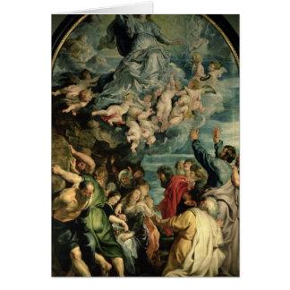 Cartão A suposição do Altarpiece do Virgin, 1611/14