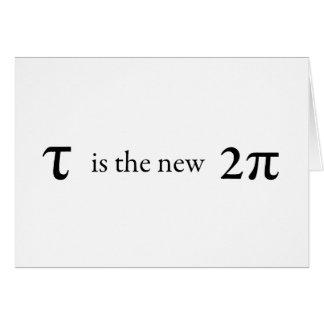 Cartão A tau é o Pi novo