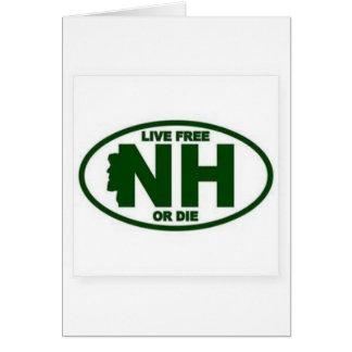 Cartão A taxa viva de New Hampshire ou morre