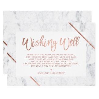 Cartão A tipografia cor-de-rosa do ouro listra o mármore