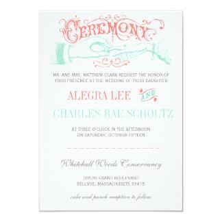Cartão A tipografia moderna do vintage da hortelã e do