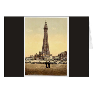 Cartão A torre, clássico Photochrom de Blackpool,
