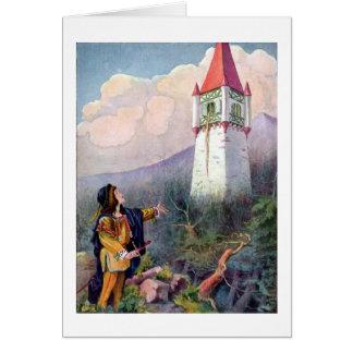Cartão A torre de Rapunzel (vazio para dentro)