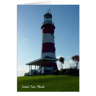 Cartão A torre de Smeaton, Hoe de Plymouth
