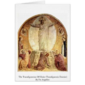 Cartão A transfiguração do cristo
