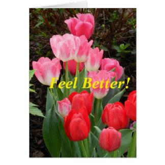 Cartão A tulipa obtem bem