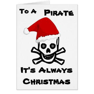 Cartão A um pirata é sempre Natal