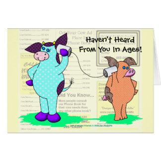 """Cartão A vaca do azevinho """"chama-me! """""""