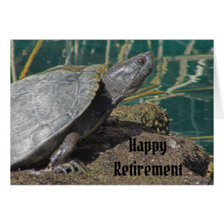 Cartão A velocidade feliz cómico da tartaruga da