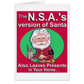Cartão A versão de N.S.A. do papai noel