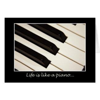 Cartão A vida é como um piano