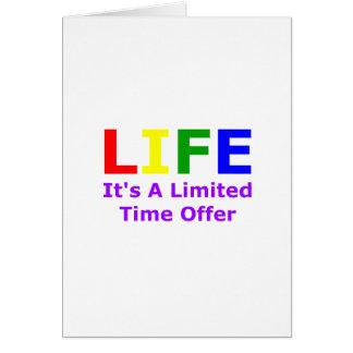 Cartão A vida é curta