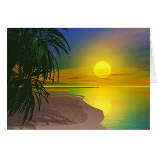 Cartão A vida é uma praia ensolarada
