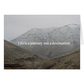 Cartão A vida é uma viagem, não um destino