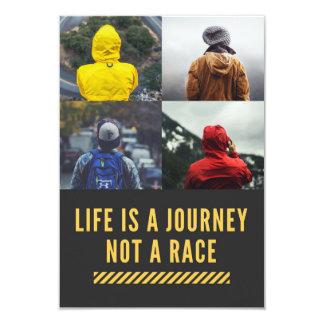 Cartão A vida é uma viagem não uma raça que a divisa