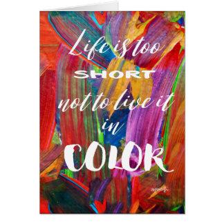 Cartão A vida é vazio moderno abstrato colorido demasiado