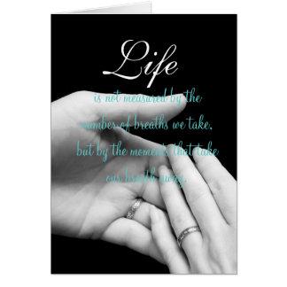 Cartão A vida não é medida….