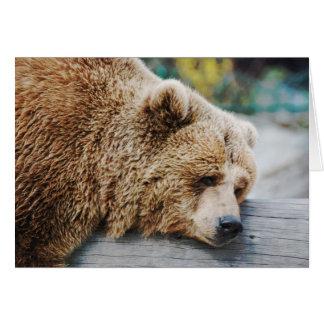 Cartão A vida suga o humor triste do urso da mensagem
