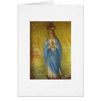 Cartão A Virgem Maria -   período medieval