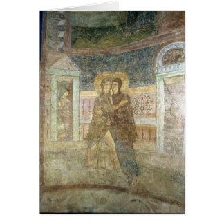 Cartão A visitação, detalhe do interior da capela