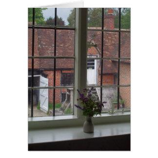 Cartão A vista da janela de Jane Austen