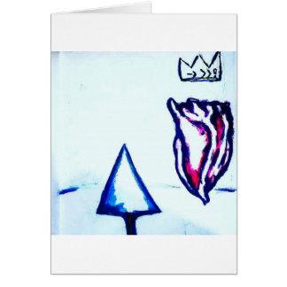 Cartão A vitória de um coração pela luminosidade