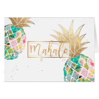 Cartão Abacaxis de PixDezines Aloha/Mahalo