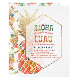Cartão Abacaxis havaianos de PixDezines Aloha/Orange/DIY