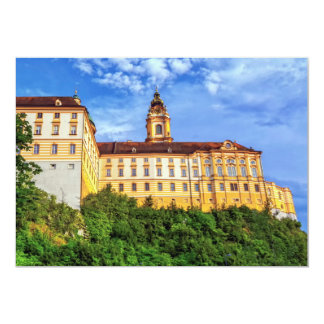 Cartão Abadia do licor beneditino, Melk, Áustria