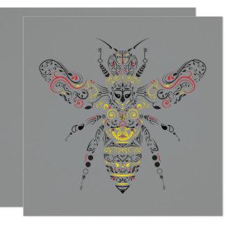Cartão abelha de rainha