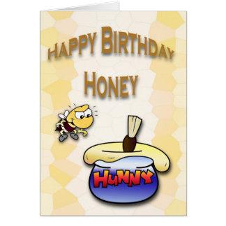 Cartão Abelha do mel do aniversário