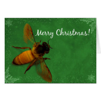 Cartão Abelha do Natal