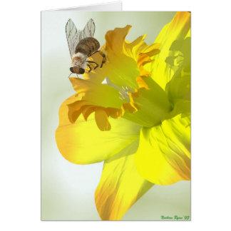 Cartão Abelha do primavera