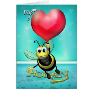 Cartão Abelha meu mel